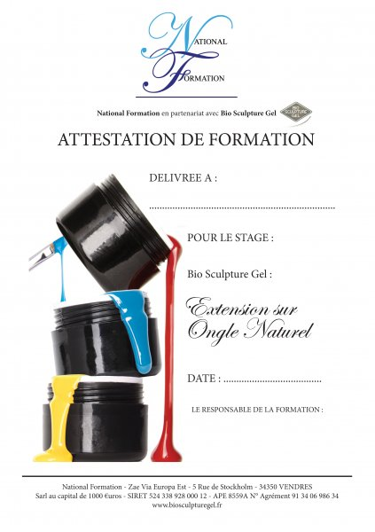 Attestation Extensions sur ongle naturel